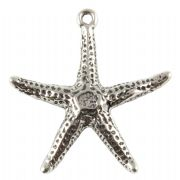Starfish 3D Sterling Silver Charm